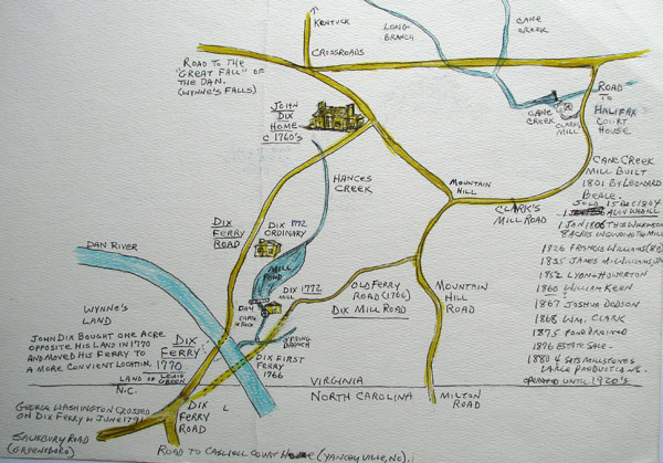 Map: Dix Ferry 1700s by Danny Ricketts