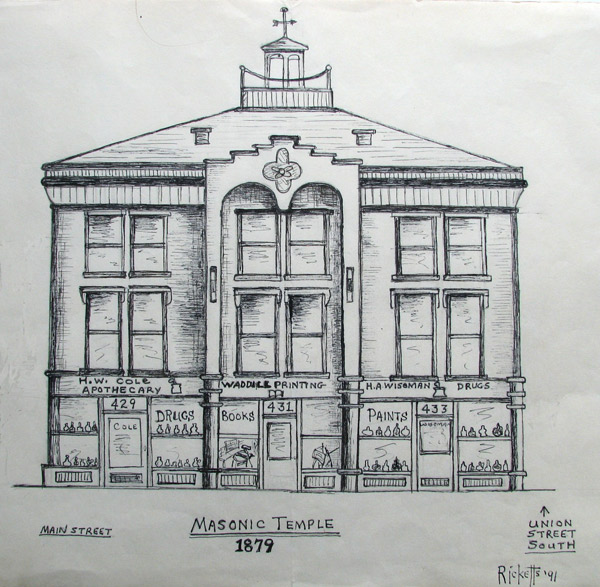 Masonic Temple 1879 by Danny Ricketts