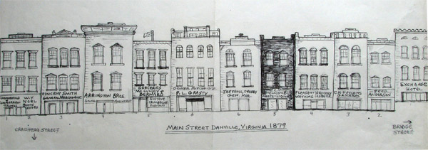 Main Street Store Fronts 1879 by Danny Ricketts
