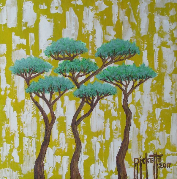 Trees on Yellow and White © Danny Ricketts